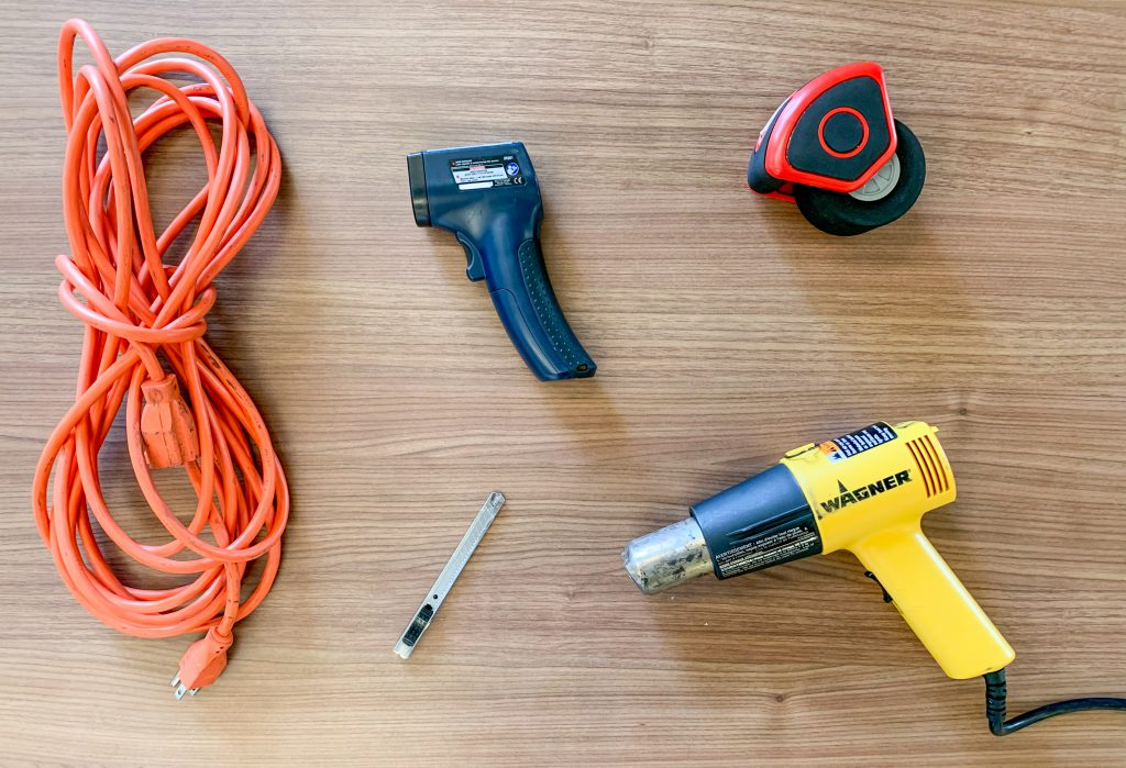 Pre-installation tip: We recommended using a heat gun, extension cords, cutting blades, RollePros, and an IR thermometer