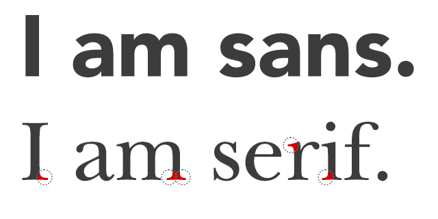 Lettering for printed decals sans vs serif
